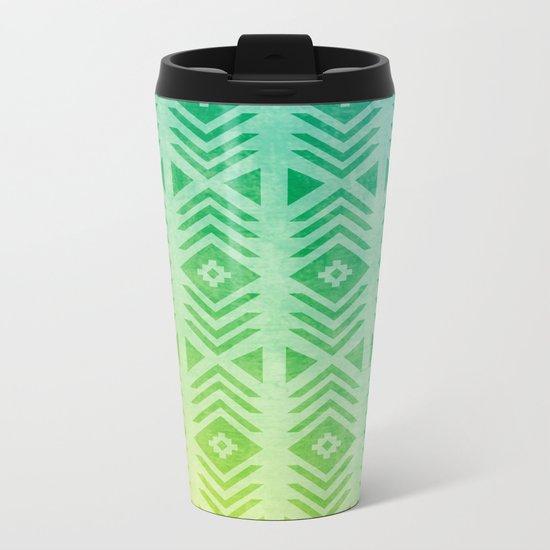 Aztec Pattern 01 Metal Travel Mug
