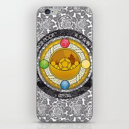 Sailor Moon - Crystal Transformation Brooch iPhone Skin