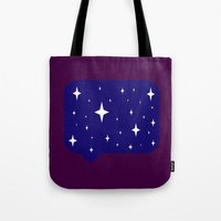 sayings Tote Bags featuring Star Sayings by Mantha