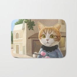 Yummy ice cream and a Cat Bath Mat