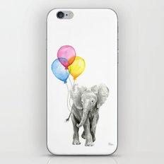 Baby Elephant with Balloons Nursery Animals Prints Whimsical Animal iPhone & iPod Skin