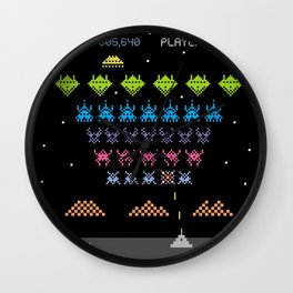 Space Intruders Wall Clock