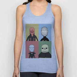 Adventure Time with Cenobites from Hellraiser Unisex Tank Top