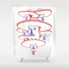 The Mariachi Band Shower Curtain