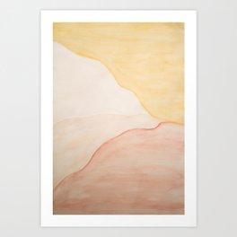 White Mountain Side Art Print