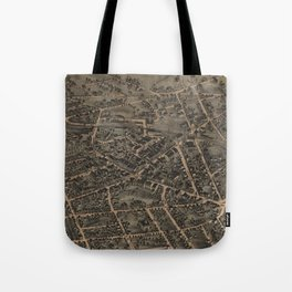Vintage Pictorial Map of Middletown NY (1874) Tote Bag