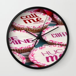 message cup cakes Wall Clock