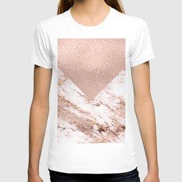 Pastel pink warm rose marble T-shirt