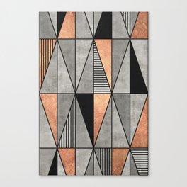 Concrete and Copper Triangles Canvas Print