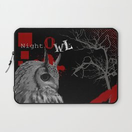 Trash Polka Night Owl & Tree Branches Laptop Sleeve
