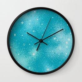 Winter Nebula Wall Clock