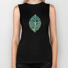 Colorful leaves Biker Tank