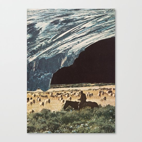 the last herd Canvas Print
