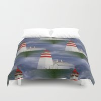 lighthouse Duvet Covers featuring Lighthouse by Ellyne