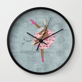 Sock Monkey Ballerina Wall Clock