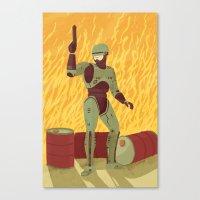 robocop Canvas Prints featuring Robocop by James White