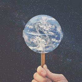Art Print - Lollipop Globe - Christo Makatita
