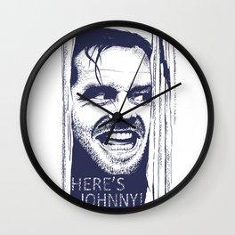Here's Johnny! Wall Clock