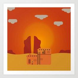 Adobe Pueblo Art Print