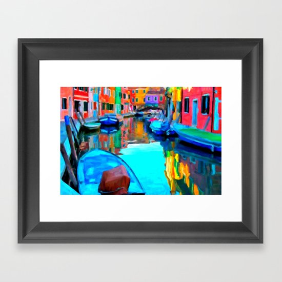 Colors In Venice - Painting Style Framed Art Print