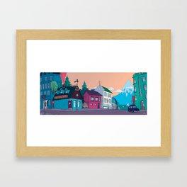 Strange Neighborhood Framed Art Print