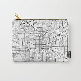 Tallahassee Map, USA - Black and White Carry-All Pouch