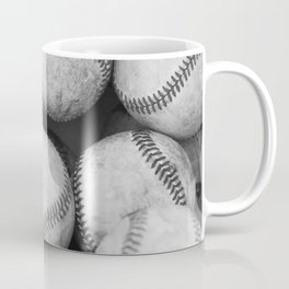 Baseballs Black & White Graphic Illustration Design Coffee Mug