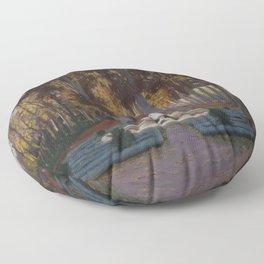 Santiago Rusiñol - Otoñal Floor Pillow