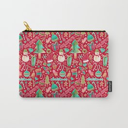 Merry Christmas watercolor Carry-All Pouch