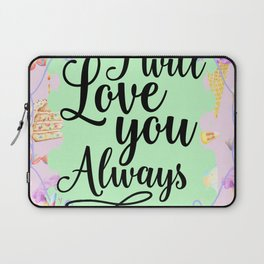 Cake and Ice-cream Love - I Will Love you Always Laptop Sleeve