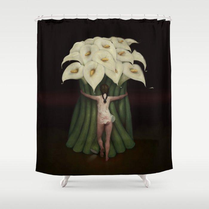 LILY Shower Curtain By Burtongraystudio