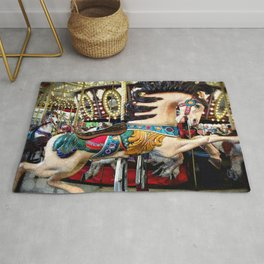 Carousel horse and sparkly lights   Find Your Wild Rug