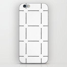 Block Print Simple Squares in Black & White iPhone Skin