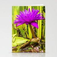lotus flower Stationery Cards featuring Lotus  by Karl-Heinz Lüpke