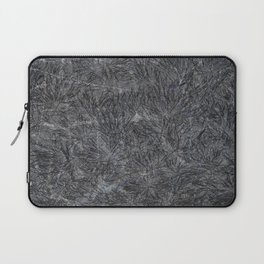 Black Cement and Grass Laptop Sleeve