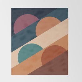 Abstraction_SUN_Landscape_Color_Minimalism_001 Throw Blanket