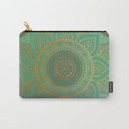 """Sea Turquoise Pattern Mandala (Teal & Gold)"" Carry-All Pouch"