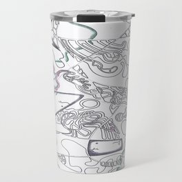 Footprint of a Shark Travel Mug