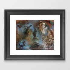 Rome Statues with color Framed Art Print
