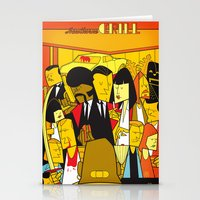 pulp fiction Stationery Cards featuring Pulp Fiction by Ale Giorgini