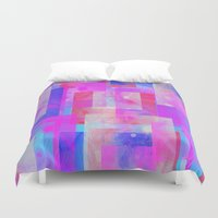 techno Duvet Covers featuring techno base by Carol Sabbagh