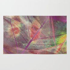 Colored dry leaf Rug