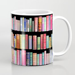 Christmas Antique Book Library for Bibliophile.bookworm, book lover, library, teachers , students, Coffee Mug