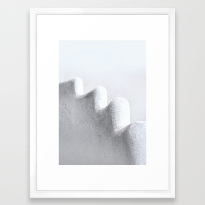 White and Minimal Framed Art Print by printsproject | Society6