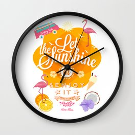 Let the Sunshine in 1 Wall Clock