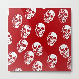 Hot Skulls, red white Metal Print