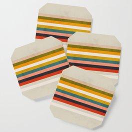 modern abstract stripe geometric Coaster
