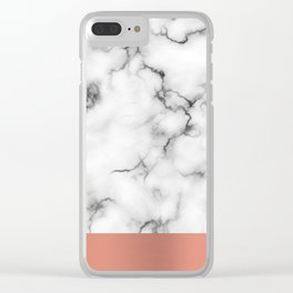 Marble & copper Clear iPhone Case