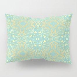 eau de nil flowerpower series Pillow Sham