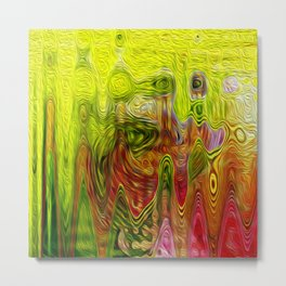 Abstract contemporary oil effect Metal Print